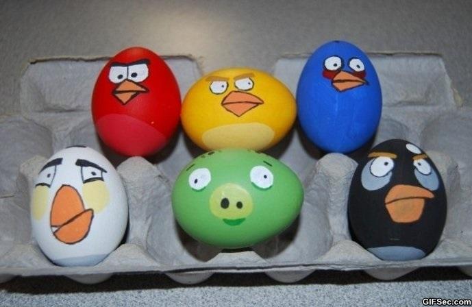 angry birds ägg